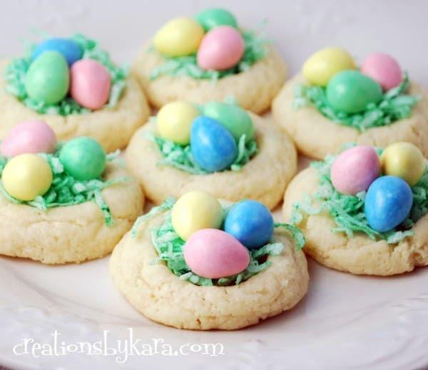 easter recipe-nest cookies