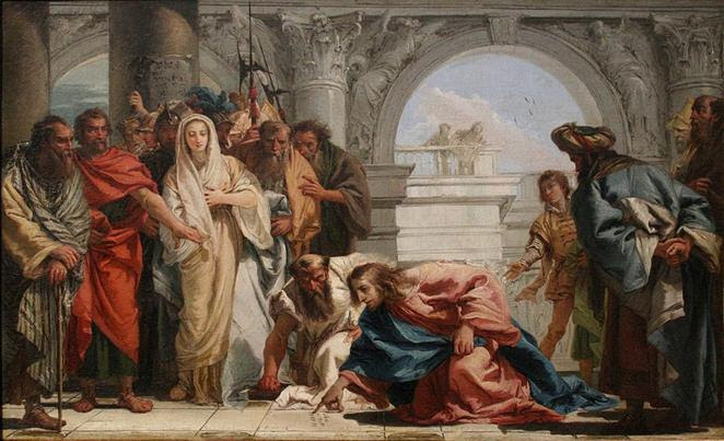 https://upload.wikimedia.org/wikipedia/commons/thumb/d/da/Tiepolo_-_Le_Christ_et_la_femme_adult%C3%A8re.jpg/1024px-Tiepolo_-_Le_Christ_et_la_femme_adult%C3%A8re.jpg
