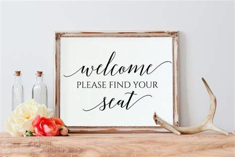 Printable PDF Wedding Sign   Find your Seat (8x10