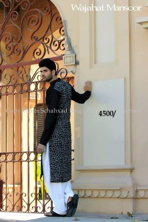 Wajahat-Mansoor-Latest-Summer-Eid-Kurta-Pajama-Salwar-Kameez-Collection-2013-Mens-Boys-9