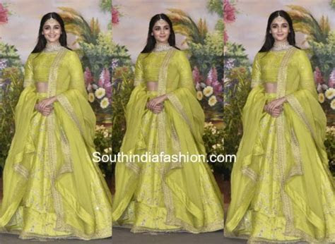 Alia Bhatt in Sabyasachi at Sonam Kapoor's Wedding