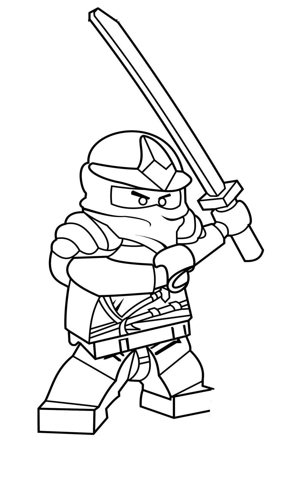 Coloriage lego tortue ninja