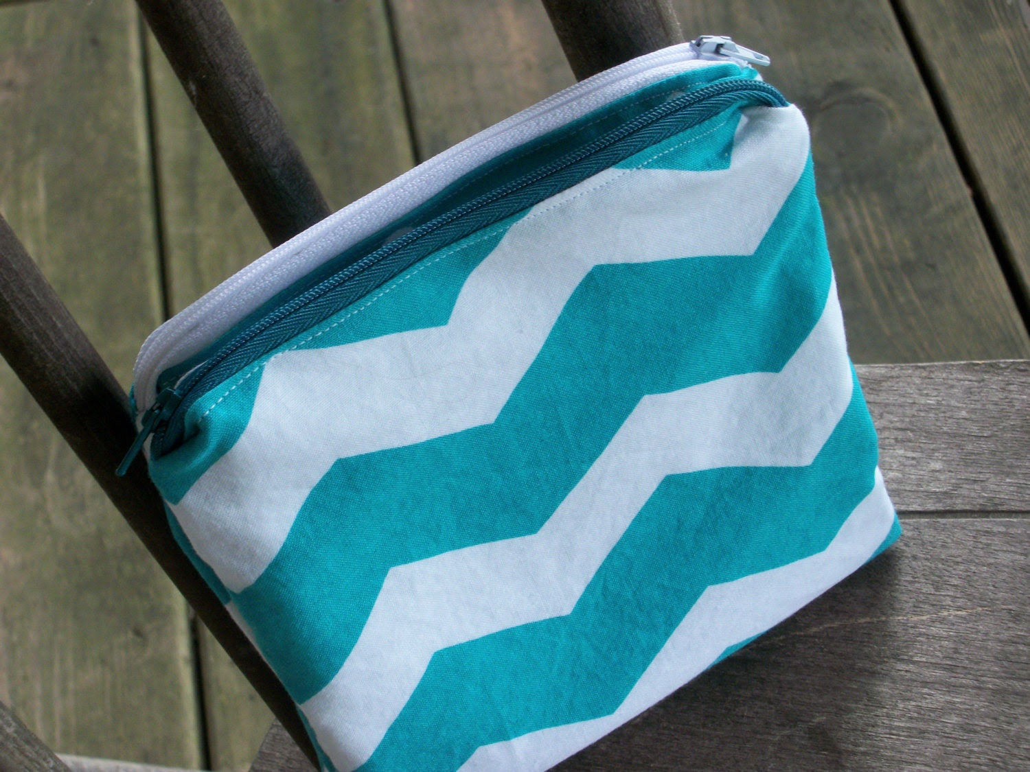 Set of 2 Chevron Wet Bags -Snappable&Zippered