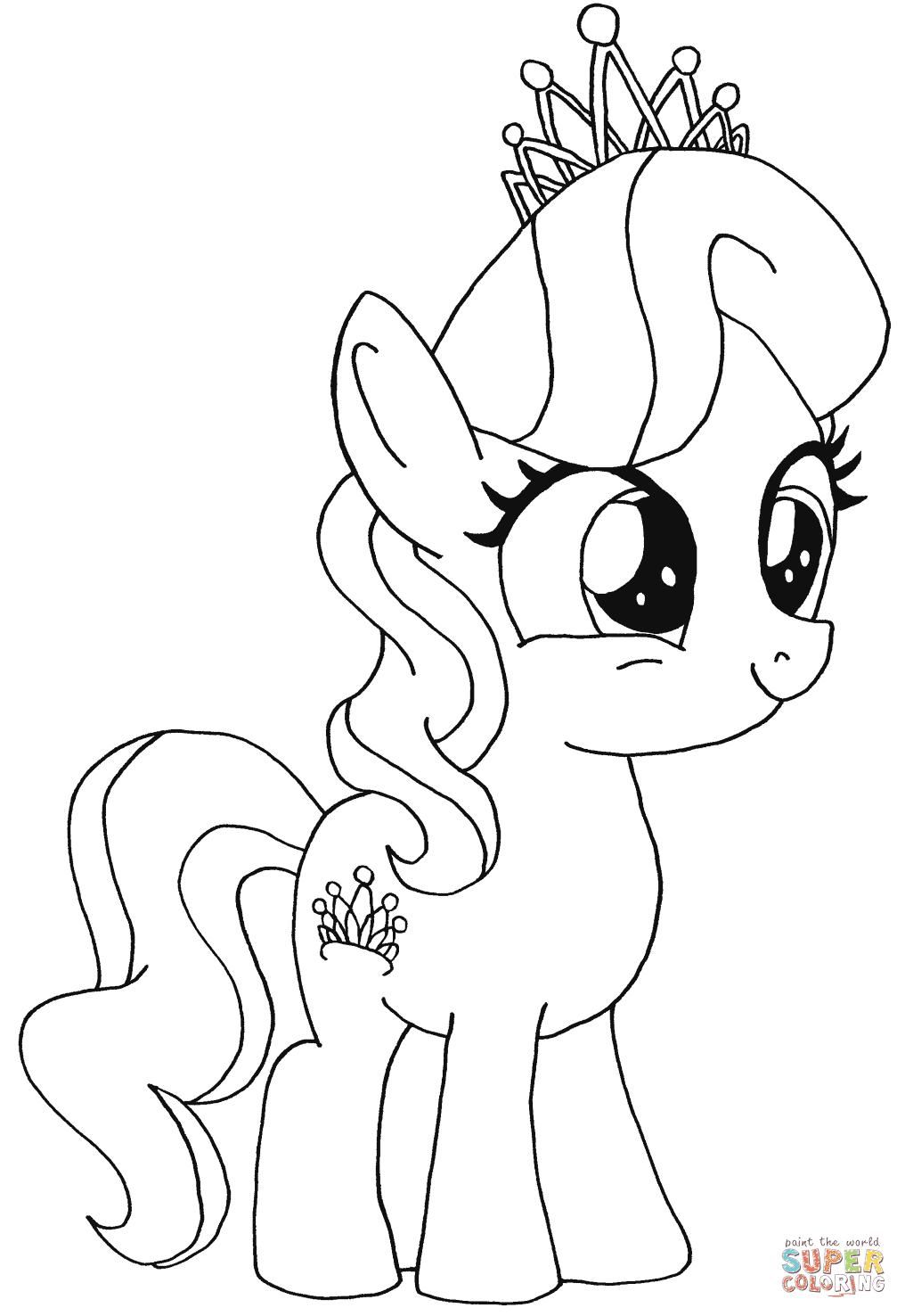 inspirerende kleurplaten my pony printen krijg