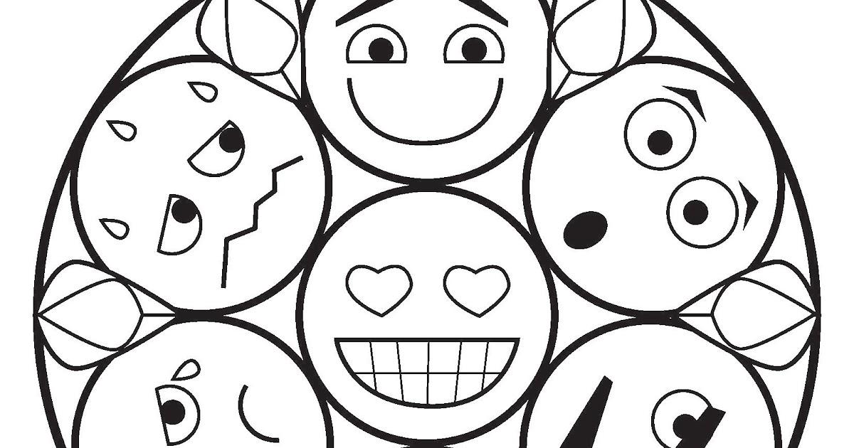 emojis zum ausdrucken und ausmalen  ausmalbilder und vorlagen