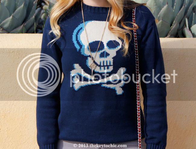 Target Circo skull print sweater