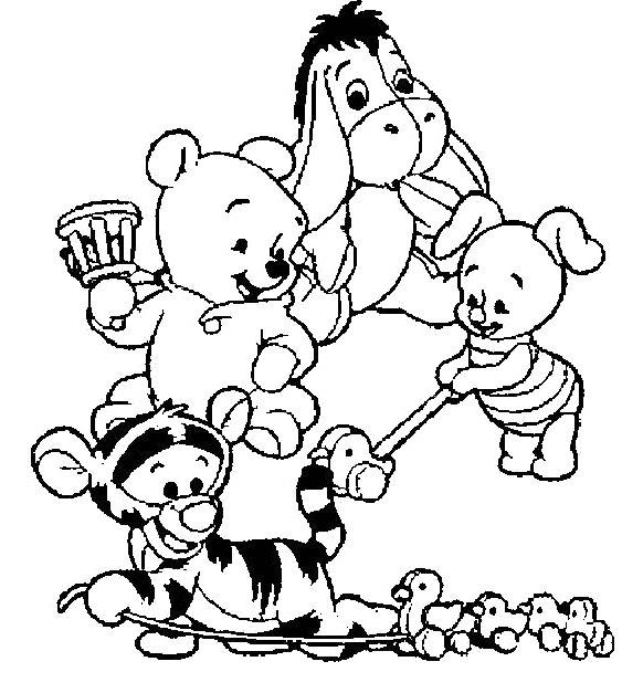 Dibujos De Winnie Pooh Bebe Para Colorear