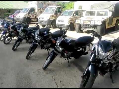 Ministerio de Defensa y policía recupera motocicletas Robadas