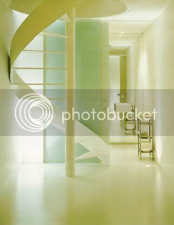 yoga loft, staircase