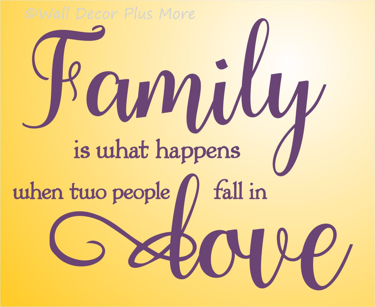 When Two People Fall in Love Family Wall Letters Quotes Wall Decals Loading zoom