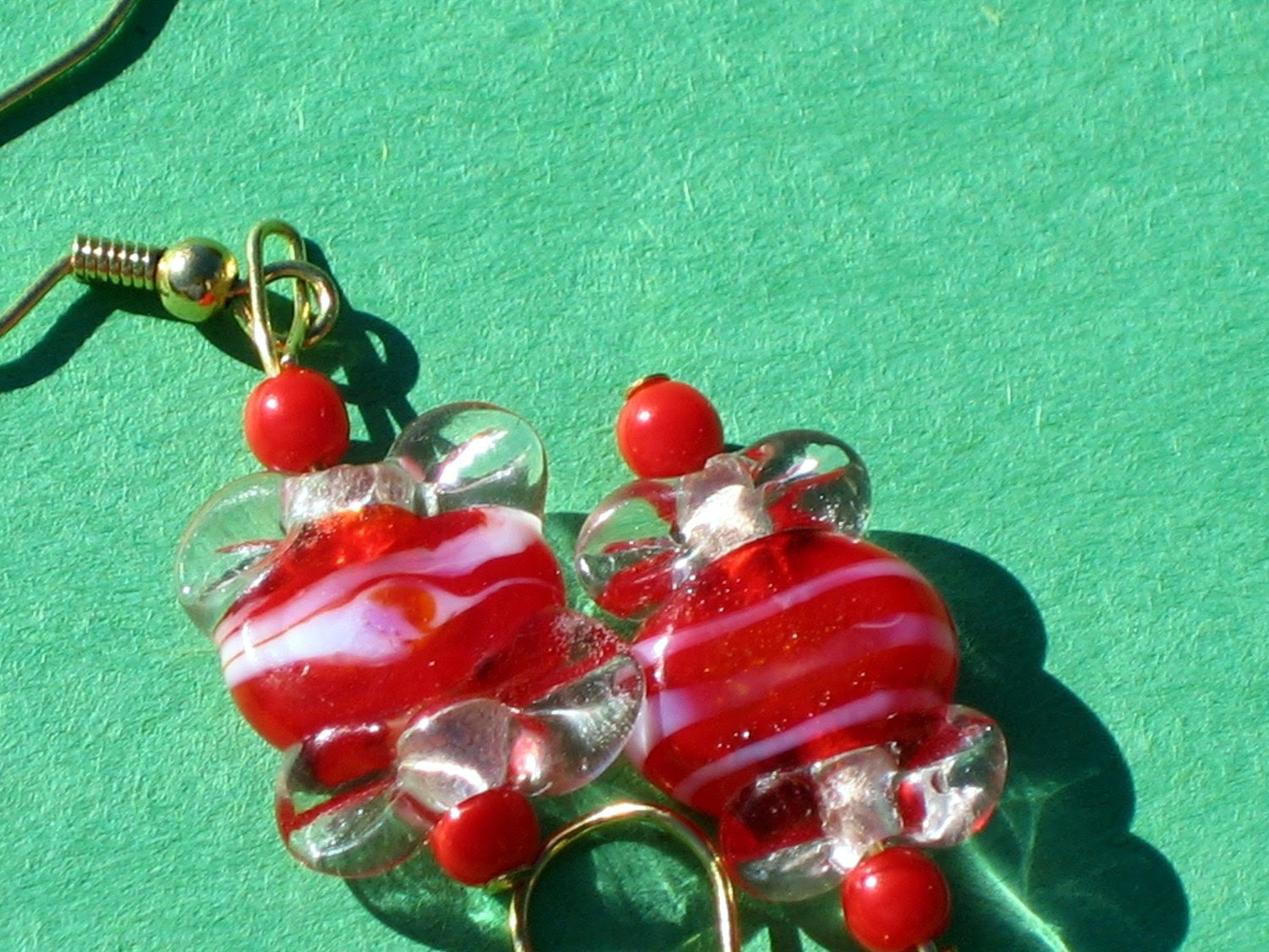 Peppermint Candy Red Earrings