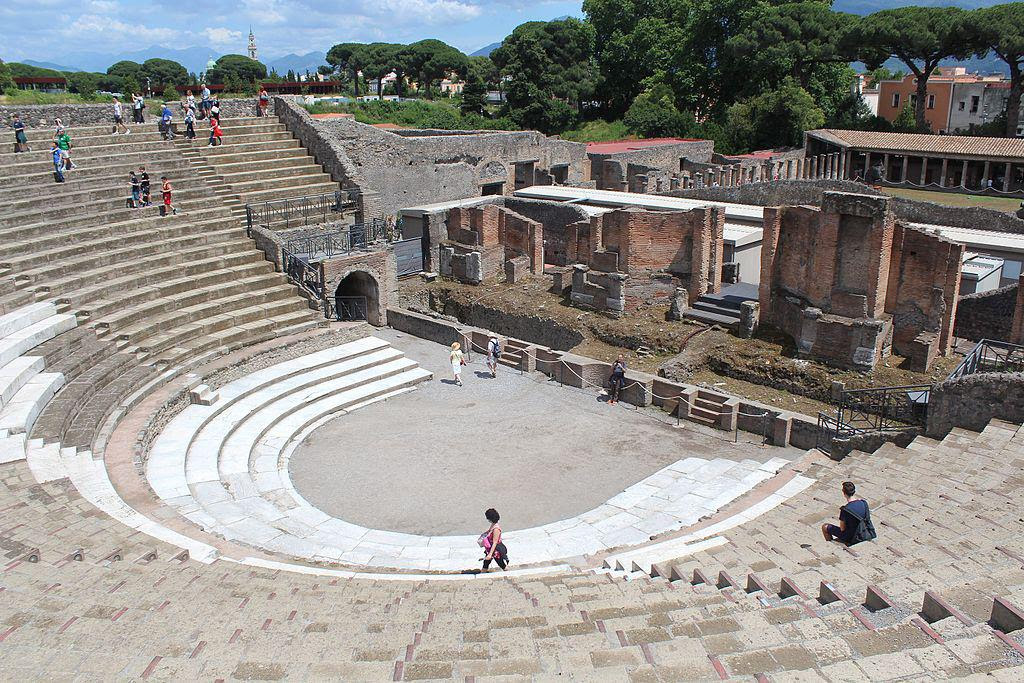 Historic Places Of Pompeii Pompei Italy