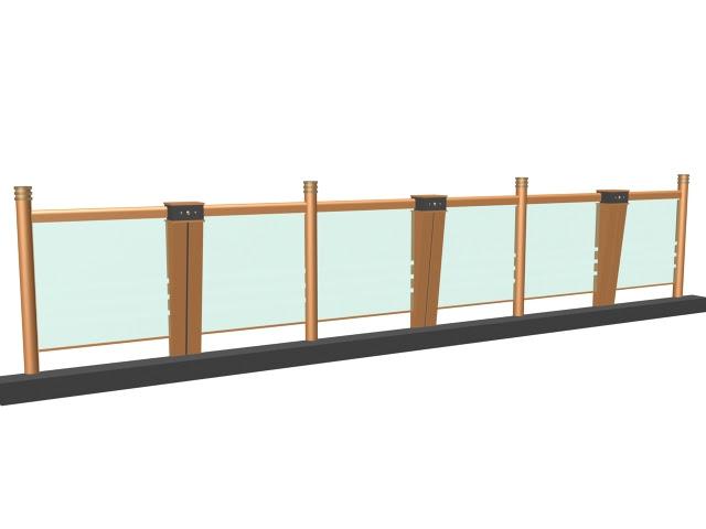 Glass Railing Design For Balcony 3d Model 3dsmax3ds Files Free