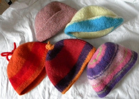 Felted Knit Hats Collection for Children and Toddlers, In-Stock Sale