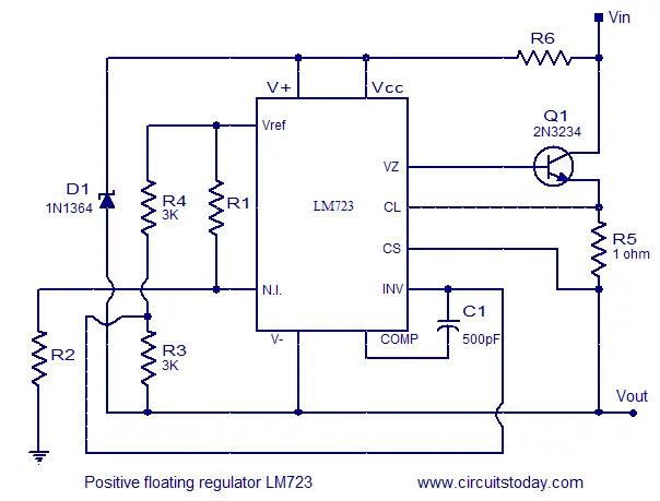 LM723 floating regulator