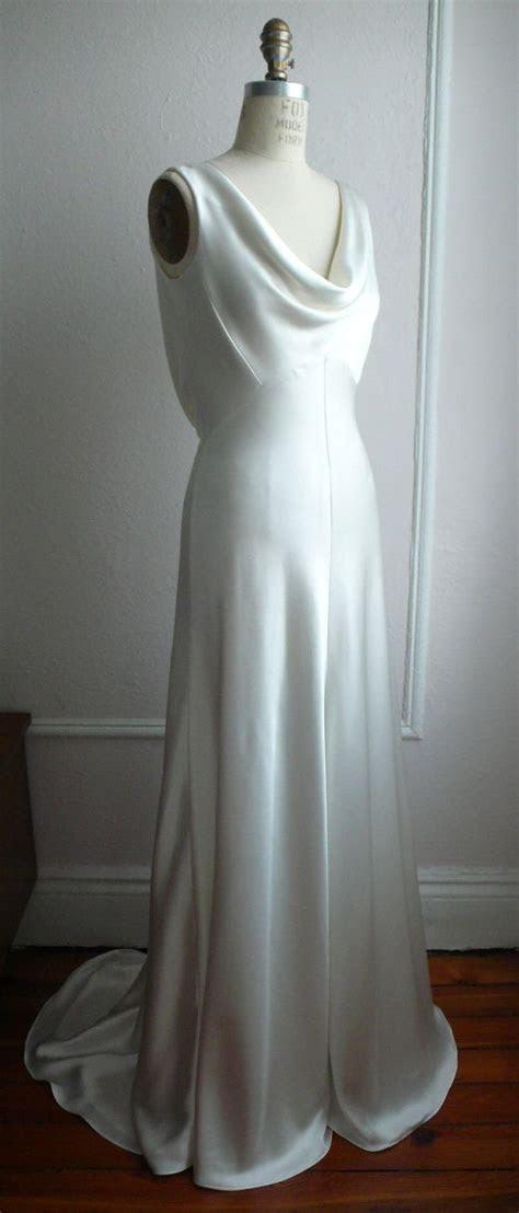 "1930's Inspired Bias Bridal Gown ""Ella"", Low back"