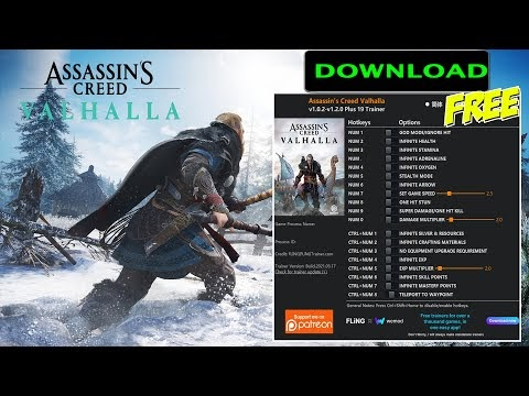 Assassins Creed Valhalla v1.0.2-v1.2.0 Plus 19 Trainer-FLiNG