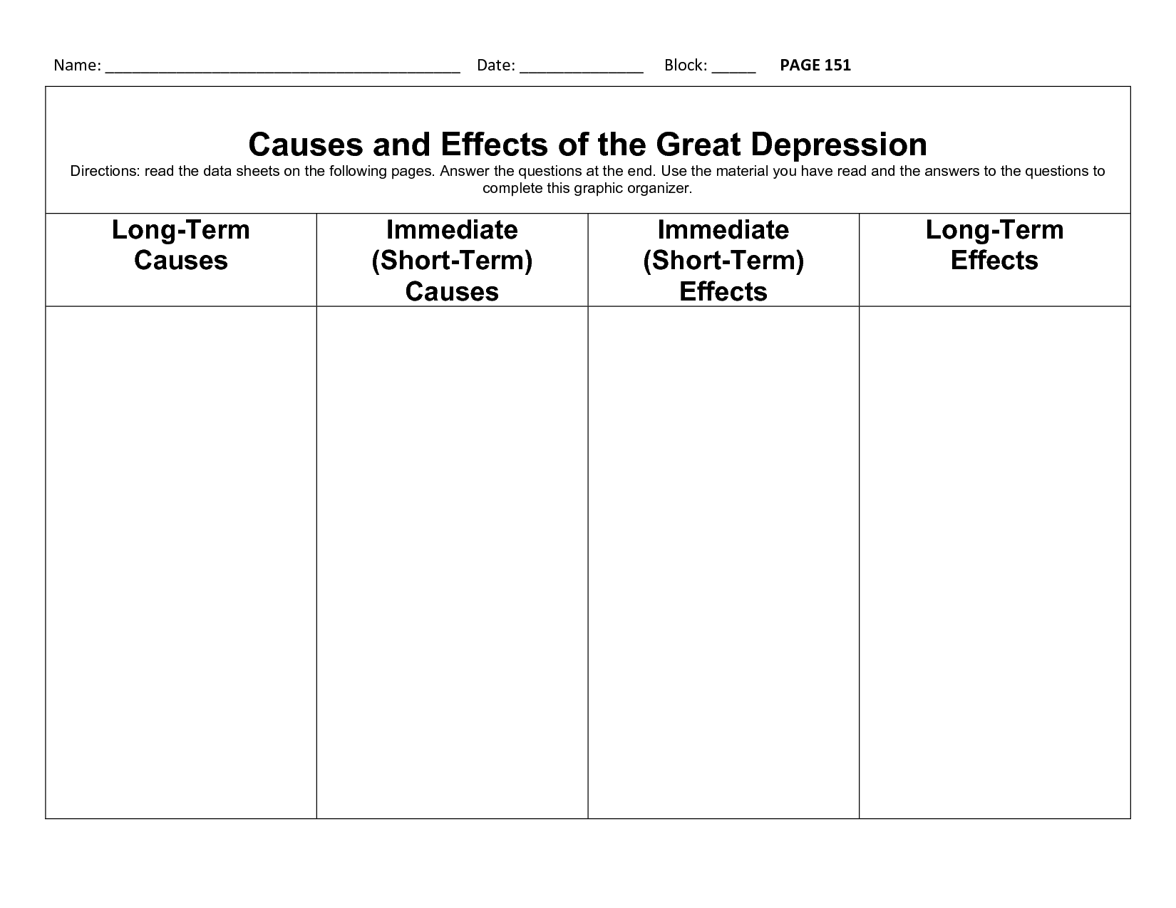 33 The Great Depression Begins Worksheet Answers ...