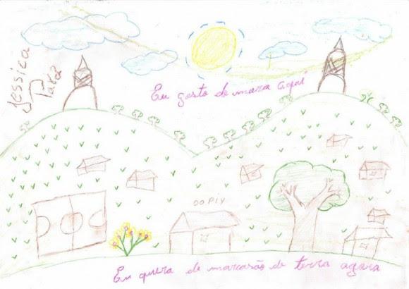 Desenho de criança guarani enviada ao desembargador do TRF