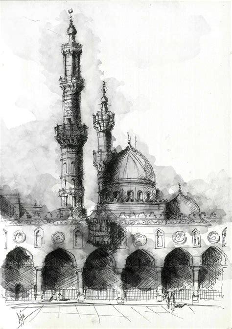courtyard  al azhar mosque located  al azhar street