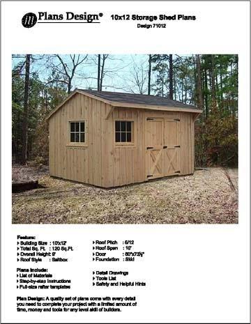 Free saltbox shed plans 10 x 12 gabret for Saltbox storage shed