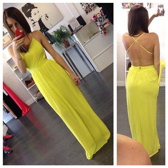 Open Back Citron Maxi