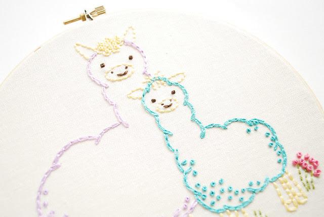 Alpaca embroidery