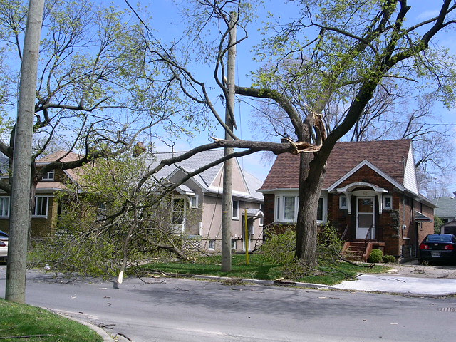 Wind Storm Damage - 3 May 2011 - St. Catharines - Ontario - NiagaraWatch.com