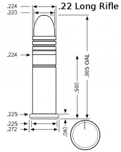 .22lr diametro