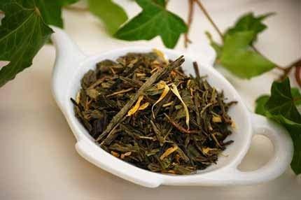2 oz - VANILLA SENCHA - GREEN Flavoured Loose Leaf Tea