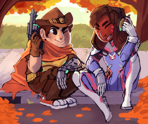 Anonymous said: May we see Steven as McCree and Connie as DVa for halloween? Kids running around with their vidja characters Answer: *sheds a tear* those kid sure do love their viddy games