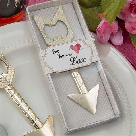 Gold Arrow Bottle Opener Wedding Favors