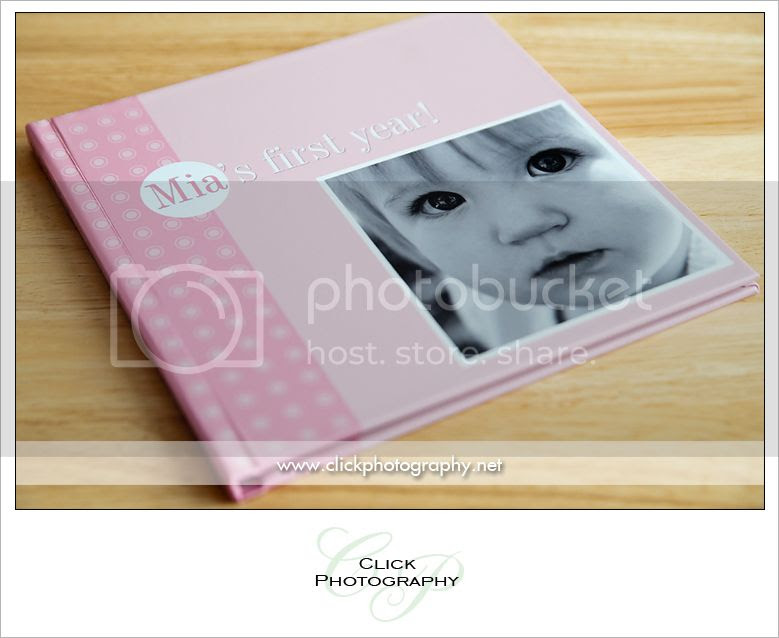Click Photography Mias First Year Album