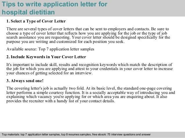 Hospitaltitian Application Letter
