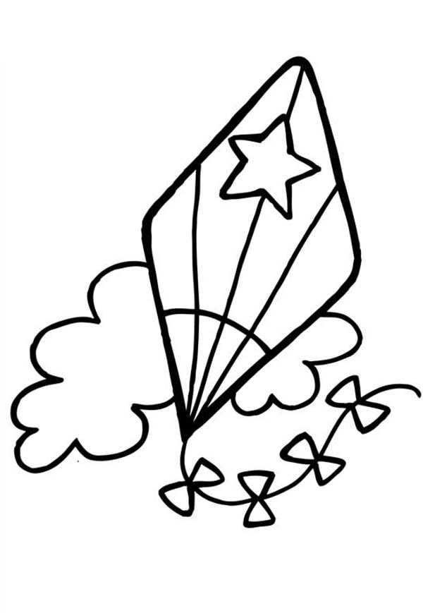 Kite Coloring Pages | Free download on ClipArtMag