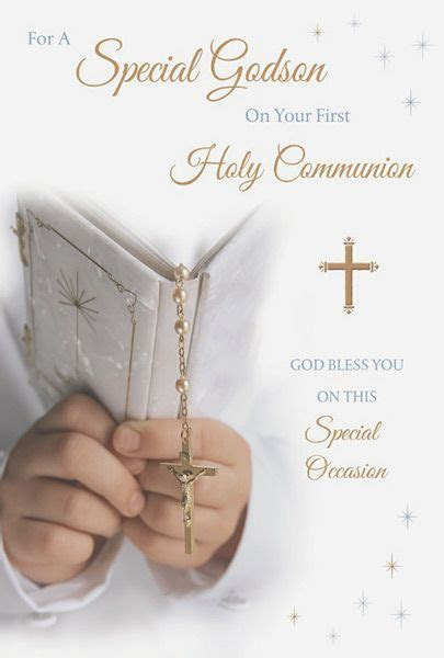 Godson First Holy Communion Card