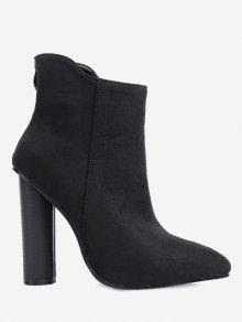 Chunky Faux Suede Ankle Boots