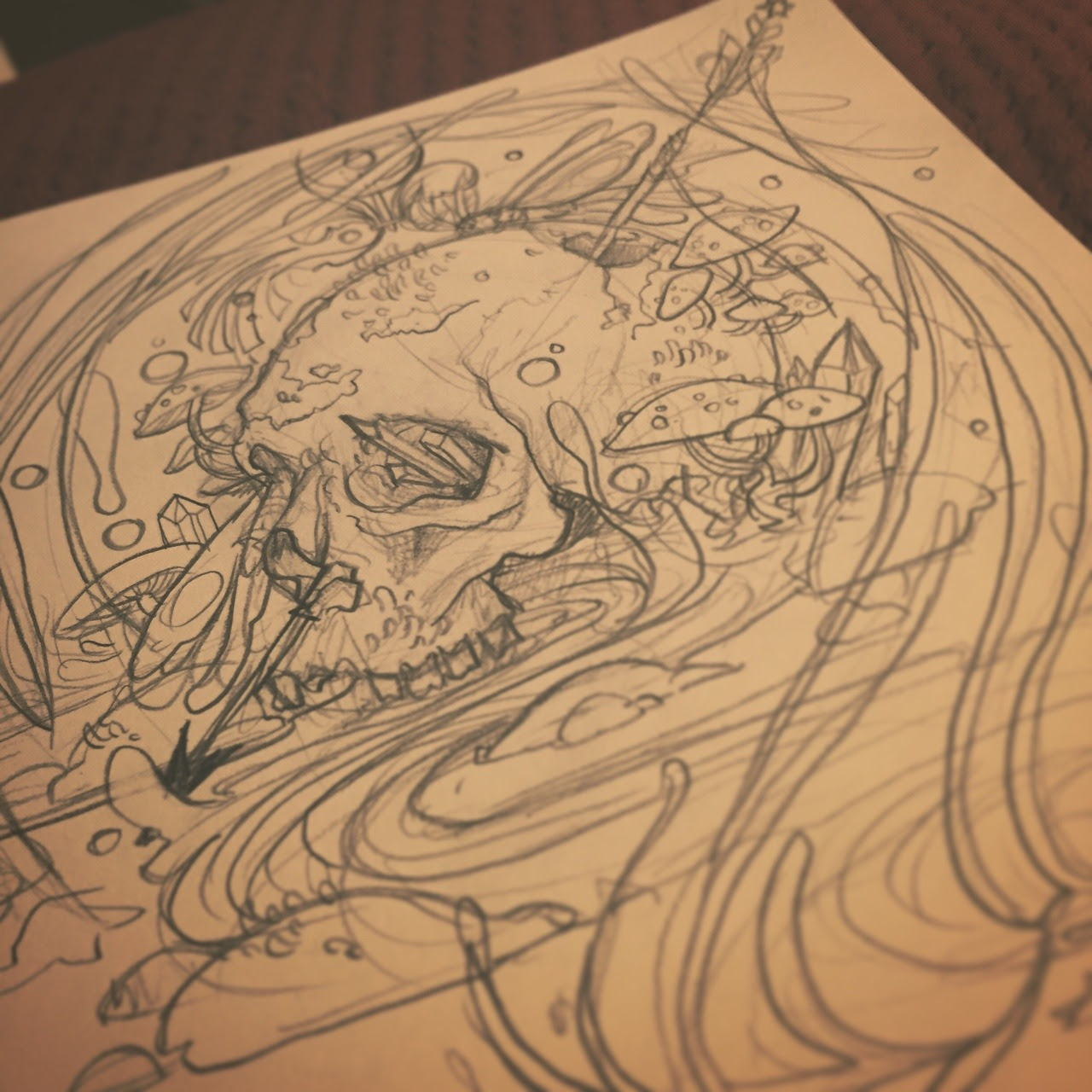 Inktober and drawlloween day 20 skull
