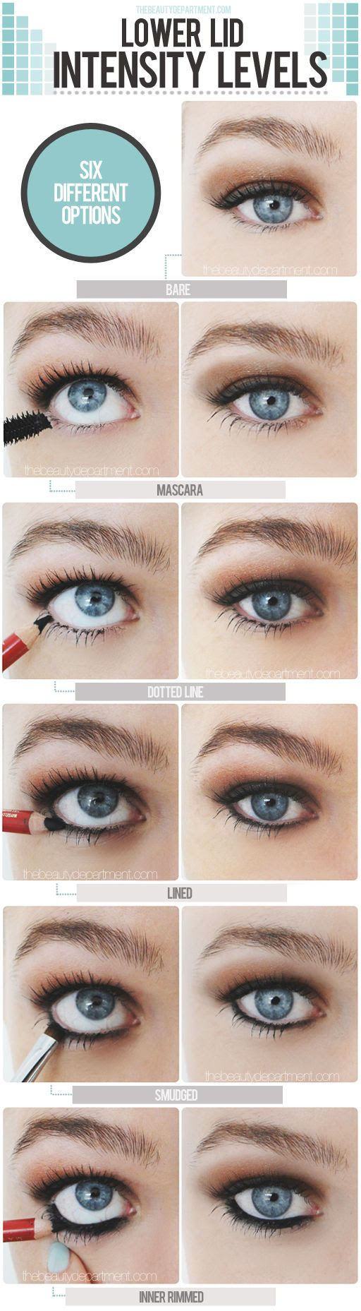 lower lid intensity levels #beauty #makeup