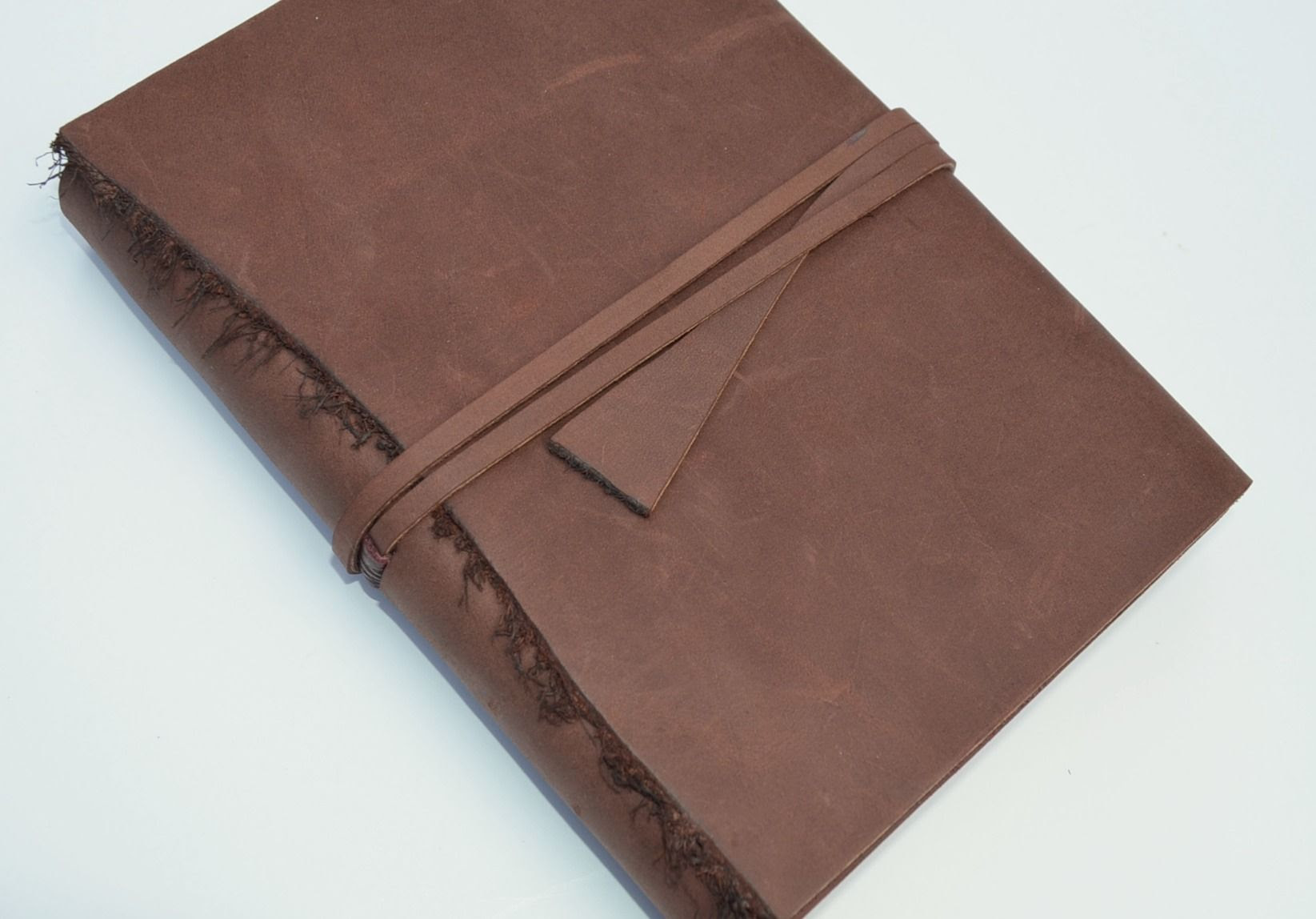 Buy a Hand Crafted Handmade Leather Bound Sleeve Journal Personal ...