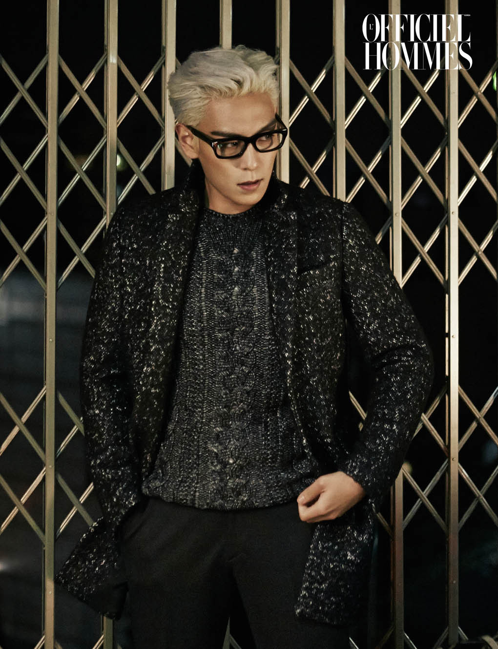 Big Bang TOP - L'Officiel Hommes Magazine January Issue '15