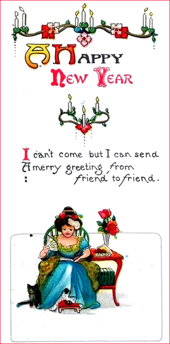 22 Printable New Years Cards and Sweet Poems