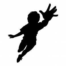 手を伸ばす男性シルエット イラストの無料ダウンロードサイト