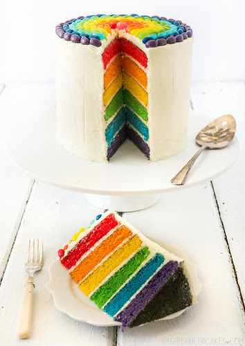 Rainbow Cake with Jelly Beans