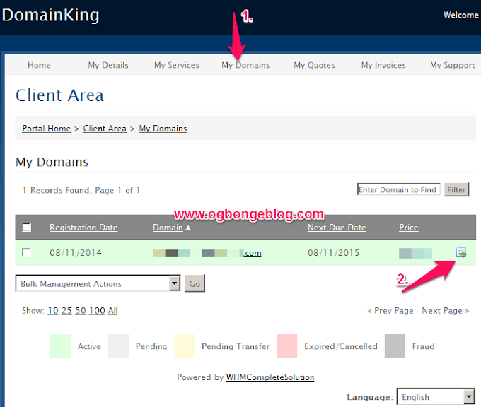 How To Link DomainKing Domain Name To Blogger/Blogspot Blog