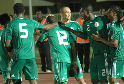 File photo: Osaze, Yobo and other  team mates.