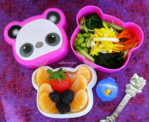 Pretty Preschool Quinoa Salad Bento Bowl by sherimiya ♥