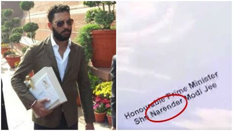 Oops! Yuvraj Singh misspelt PM Narendra Modi's name in his