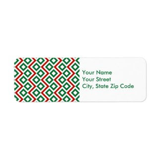 Christmas Meander return address label