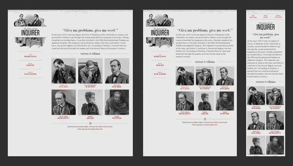Ejemplo de una web diseñada cuyo contenido se adapta al ancho de la ventana